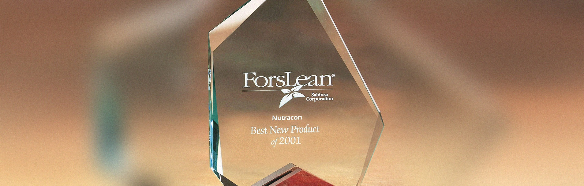 Nutracon Best New Product Award 2001